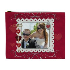 Elegant Red Hot Love Xl Cosmetic Bag By Lil    Cosmetic Bag (xl)   42t4co0nojcx   Www Artscow Com Front