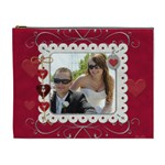Elegant Red Hot Love XL Cosmetic bag - Cosmetic Bag (XL)