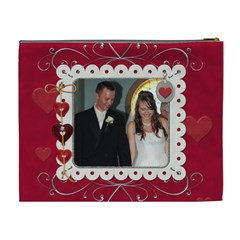 Elegant Red Hot Love Xl Cosmetic Bag By Lil    Cosmetic Bag (xl)   42t4co0nojcx   Www Artscow Com Back