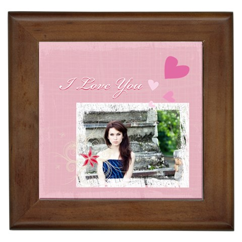 Love By Joely   Framed Tile   Uxczelz7id0r   Www Artscow Com Front