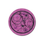 Love bubbles coaster - Rubber Coaster (Round)