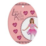 Love & KIsses Oval ornament - Ornament (Oval)