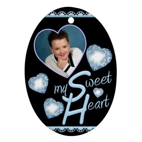 My Sweet Heart Oval Ornament By Catvinnat   Ornament (oval)   Bue5ttue9z27   Www Artscow Com Front