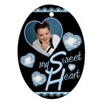 My Sweet Heart Oval ornament - Ornament (Oval)