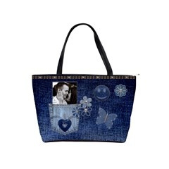 Denim Designed Classic Shoulder Handbag By Lil    Classic Shoulder Handbag   Liodxib63yfa   Www Artscow Com Front