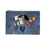 Denim Designed Large Cosmetic Bag - Cosmetic Bag (Large)