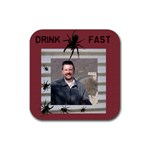 Spiders on the coaster - Rubber Square Coaster (4 pack)