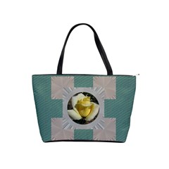 Aqua And Silver Classic Shoulder Bag By Deborah   Classic Shoulder Handbag   Xg7ixgthv7qa   Www Artscow Com Front