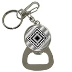 Grey bottle opener key chain