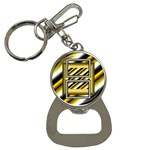 Gold bottle opener key chain