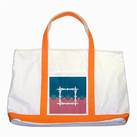 My Tote By Daniela   Two Tone Tote Bag   Duzjm40lgkux   Www Artscow Com Front