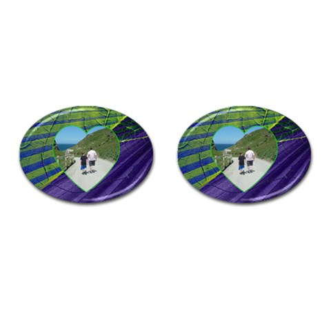 Father & Son Oval Cufflinks By Catvinnat   Cufflinks (oval)   6kfno9iefdp7   Www Artscow Com Front