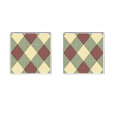 Manly By Snackpackgu   Cufflinks (square)   Pfvs4s9bbtxt   Www Artscow Com Front(Pair)
