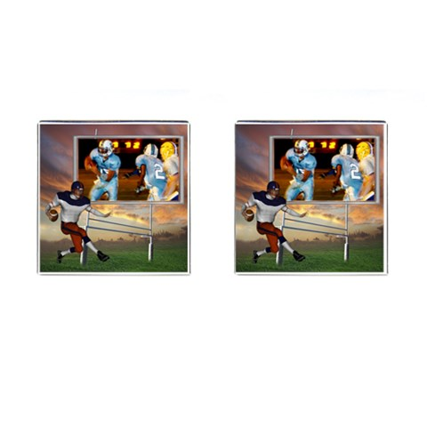 Football Cufflinks By Snackpackgu   Cufflinks (square)   Rfjjedanm5hm   Www Artscow Com Front