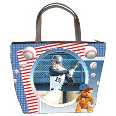 Baseball1 By Snackpackgu   Bucket Bag   I7c9wi0p7bam   Www Artscow Com Back
