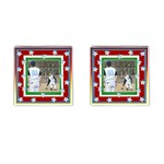 baseball cufflinks 2 - Cufflinks (Square)