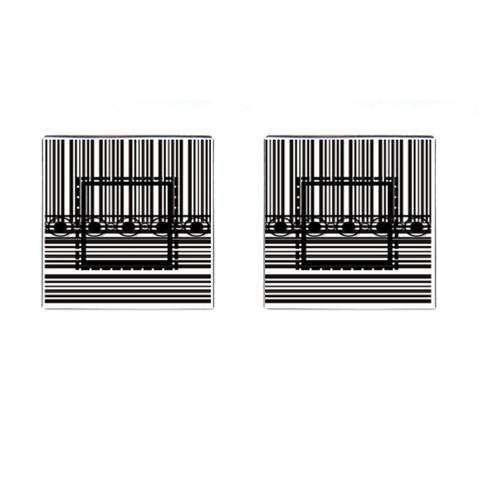 Black & White Cufflinks By Daniela   Cufflinks (square)   M86a2z4eo9gi   Www Artscow Com Front