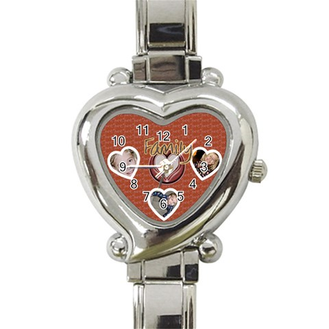 Family Love Watch By Danielle Christiansen   Heart Italian Charm Watch   C0eo7zibbwnv   Www Artscow Com Front