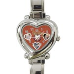 family love watch - Heart Italian Charm Watch