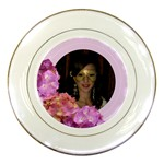 Pink Hydranga Flower Plate - Porcelain Plate