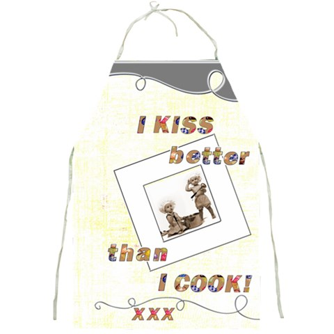 I Kiss Better Than I Cool Full Print Apron By Catvinnat   Full Print Apron   4eadsb3nb1c6   Www Artscow Com Front