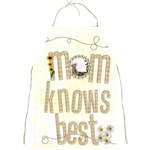 mom knows best l full print apron