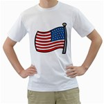 flag_24 White T-Shirt
