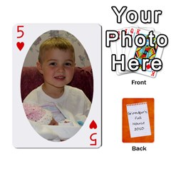 Dad Cards 2011 By Nichole Johnson   Playing Cards 54 Designs   Gajlufsucnb8   Www Artscow Com Front - Heart5
