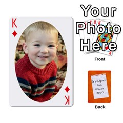 King Dad Cards 2011 By Nichole Johnson   Playing Cards 54 Designs   Gajlufsucnb8   Www Artscow Com Front - DiamondK