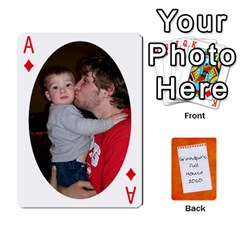 Ace Dad Cards 2011 By Nichole Johnson   Playing Cards 54 Designs   Gajlufsucnb8   Www Artscow Com Front - DiamondA