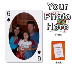 Dad Cards 2011 By Nichole Johnson   Playing Cards 54 Designs   Gajlufsucnb8   Www Artscow Com Front - Spade6