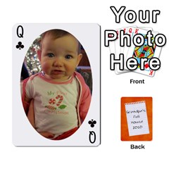 Queen Dad Cards 2011 By Nichole Johnson   Playing Cards 54 Designs   Gajlufsucnb8   Www Artscow Com Front - ClubQ