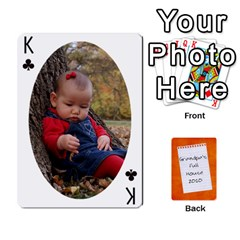King Dad Cards 2011 By Nichole Johnson   Playing Cards 54 Designs   Gajlufsucnb8   Www Artscow Com Front - ClubK