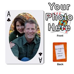 Ace Dad Cards 2011 By Nichole Johnson   Playing Cards 54 Designs   Gajlufsucnb8   Www Artscow Com Front - ClubA