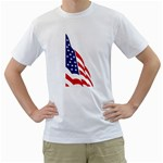 flag_43 White T-Shirt