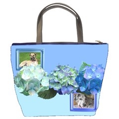 Pretty In Blue Bucket Bag By Deborah   Bucket Bag   F30d3mwlgal7   Www Artscow Com Back