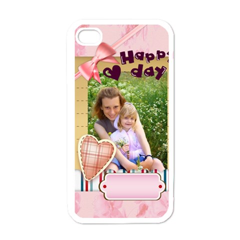 Happy Day By Joely   Apple Iphone 4 Case (white)   O3wqhl6ifyk4   Www Artscow Com Front