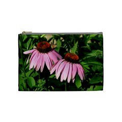 Purple Cones Med Bag2 By Debra Macv   Cosmetic Bag (medium)   N2s6xw2f2858   Www Artscow Com Front