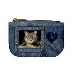 Fun Denim Mini Coin Purse By Lil    Mini Coin Purse   P21a3ekz8fz0   Www Artscow Com Front