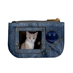 Fun Denim Mini Coin Purse By Lil    Mini Coin Purse   P21a3ekz8fz0   Www Artscow Com Back