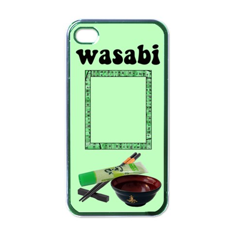 Wasabi   Iphone Case Black By Carmensita   Apple Iphone 4 Case (black)   H0qy2p3xy9vo   Www Artscow Com Front
