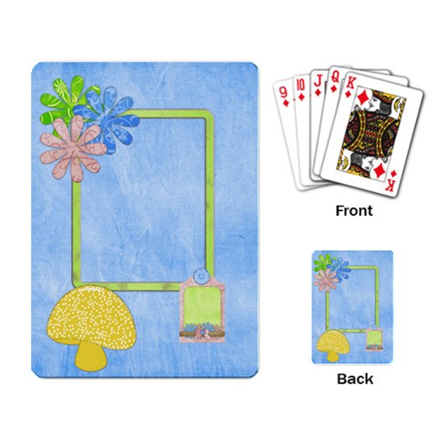 Spring Cuties Playing Cards 1 By Lisa Minor   Playing Cards Single Design   Nxfks8xzt1fy   Www Artscow Com Back