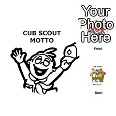 Cub Scout Game By Melissa Wulf   Playing Cards 54 (round)   Xt36h1z0v8tb   Www Artscow Com Front - Diamond3