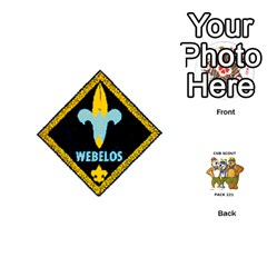 Cub Scout Game By Melissa Wulf   Playing Cards 54 (round)   Xt36h1z0v8tb   Www Artscow Com Front - Diamond8