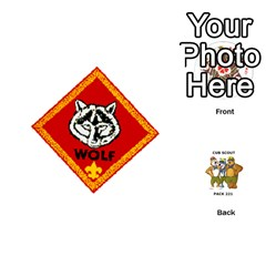 Cub Scout Game By Melissa Wulf   Playing Cards 54 (round)   Xt36h1z0v8tb   Www Artscow Com Front - Club4