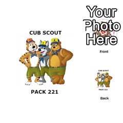Cub Scout Game By Melissa Wulf   Playing Cards 54 (round)   Xt36h1z0v8tb   Www Artscow Com Back