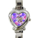 Floral Love watch - Heart Italian Charm Watch