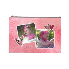 Maddie 1 By Audrey Cole   Cosmetic Bag (large)   Pj4g85ikgiqv   Www Artscow Com Front