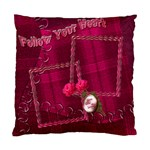 Follow Your Heart Pink Plaid Cushion Case - Standard Cushion Case (One Side)