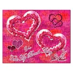 You Take My Breath Away Pink Rose Heart Puzzle - Jigsaw Puzzle (Rectangular)